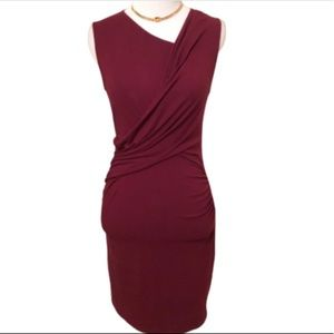 Burgundy Topshop Sleeveless Bodycon Dress 6